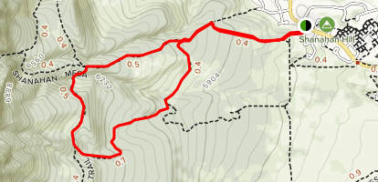 Shanahan - North Fork, South Fork and Connector Loop Map