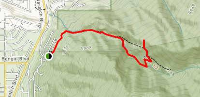Fergeson Canyon View Point Map