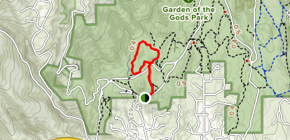 Cabin Canyon Trail via Balanced Rock Trail Loop Map
