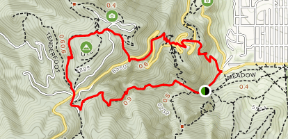 Gregory Canyon, Range View and Flagstaff Trail Loop Map