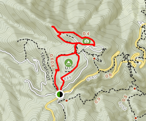 Range View, Ute, May's Point, and Boy Scout Trail Loop Map
