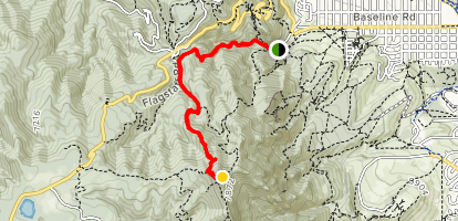Green Mountain via Gregory Canyon and Ranger Trail Map