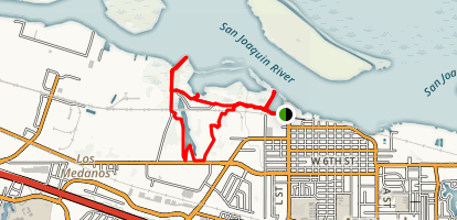 Antioch Marina and Dow Wetlands Preserve Loop Map