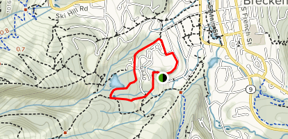 Lower Sawmill and Snowflake Trail Loop Map