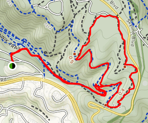 Sunset Trail to Sequoia Bayview and Big Trees Loop Map