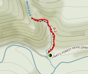 Little North Fork Falls Map