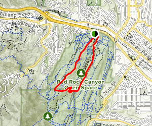 Mesa Trail to Red Rock Canyon Trail Loop Map