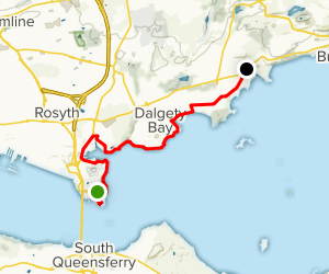 Fife Coastal Path: North Queensferry to Aberdour  Map