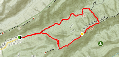 Moanalua Valley and Tripler Ridge Loop Map