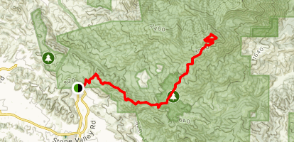 Mount Diablo via Wall Point Road and Summit Trail Map