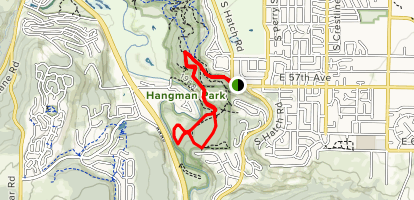 Hangman Park Loop Map