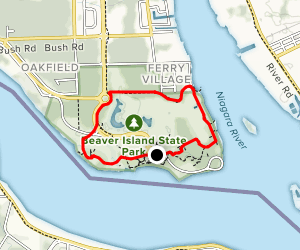 East River, Spaulding, and Beaver Island Nature Trail Loop Map