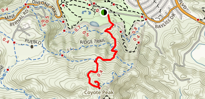 Coyote Peak via Coyote Peak Trail Map