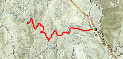Champagne Pass Viewpoint Via Noble Canyon and Indian Creek Trail Map