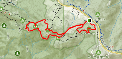 Ridge Trail to Goat Rock Overlook, Emily Smith Observation Point, and Saratoga Gap Trail Map