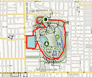 Green and Blue Trails Map