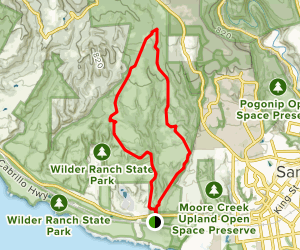Englesman, Lomng Meadow, Eucalyptus, Wilder Ridge Loop Map