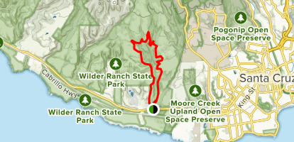 Old Cabin and Twin Oaks Trail Map