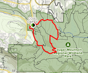 Military Road, Coal Creek Falls, Wildside Trail Map