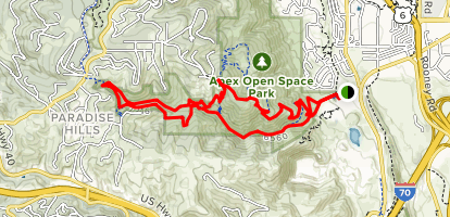 Apex Park Enchanted Forest Trail and Pick N' Sledge Trail Map