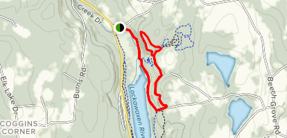 East Shore Trail, Eagle Pass, and Cliff Trail Map
