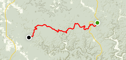 Blue Ridge Trail to The Ozark Trail Map