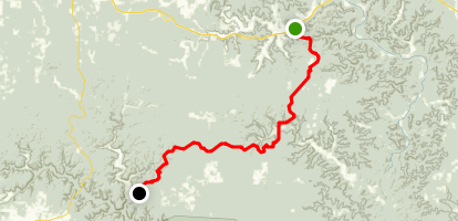 The Ozark Trail: Between the Rivers Section Map