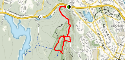 Central Monoosoc Ridge Trail Loop via MA2 Map