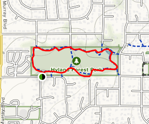 Hyland Forest Park Loop Map