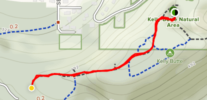 Kelly Butte Nature Trail Map