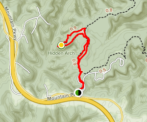Hidden Arch Trail Map