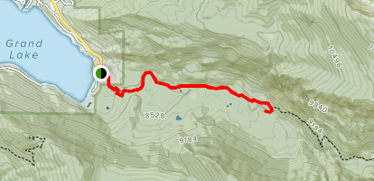 East Inlet Trail to Adams Falls and Campsite Map