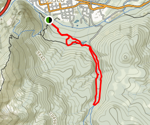 Rainbow Lake, Miners Creek, and Peaks Trail Loop Map