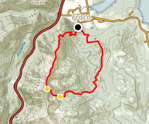 Mount Victoria, Tenmile Peak, Miners Creek Map