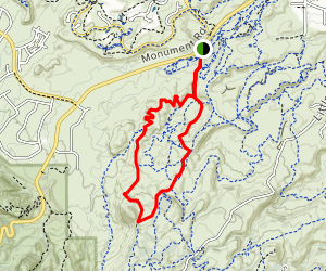 Eagles Trail to Lemon Squeezer to Tabeguache Loop Map