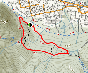 Masontown Loop- Peaks, Masontown, Mount Royal Map