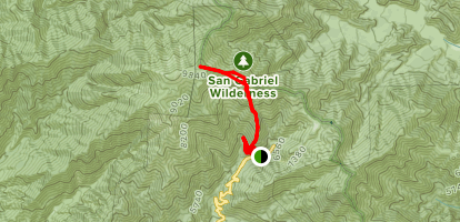 Register Ridge to Mount San Antonio Map