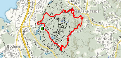 On Your Back, Boundary Trail, Blue Mountain Summit Loop Map