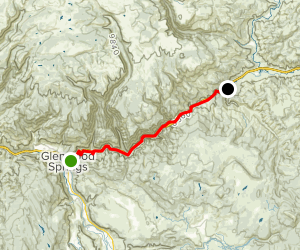 Glenwood Canyon Trail via Glenwood Springs Map