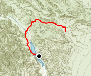 Whitewater Preserve to Stone House Map