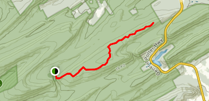 Mid-State Trail to Bald Mountain Via Penn-Roosevelt State Park Map