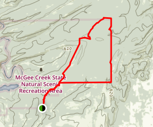 South Rim and Boundary Loop Map