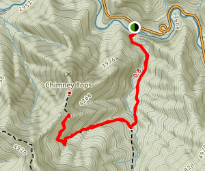 Chimney Tops Trail Map