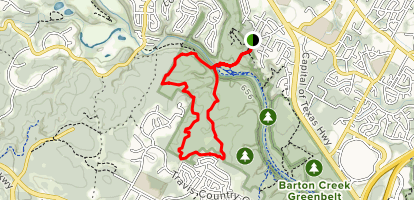 Barton Creek Greenbelt Loop Map
