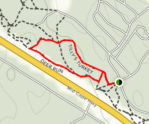 Tilly's Turkey and Deer Run Loop Map