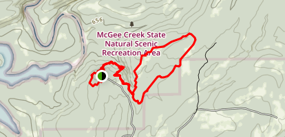 Carnasaw Nature Trail, Rocky Point, Little Bugaboo and South Rim Trail Loop Map