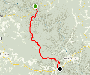 The Ozark Trail: Current River Section Map