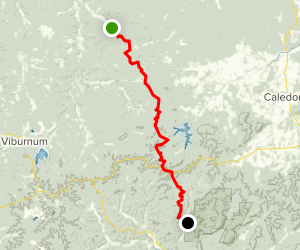 The Ozark Trail: Trace Creek Section Map