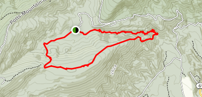 Cove Branch and Potts Arm Loop Map