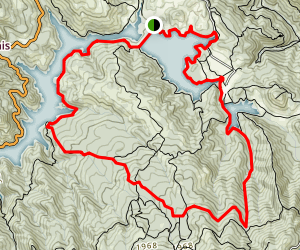 Bon Tempe and Alpine Lakes via Sunny Side, Pine Point, Coller, Lower Northside, and Kent Trail Map